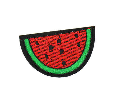 """EMBROIDERED WATERMELON APPLIQUE 2/""""x1.25/"""" WS-311 WATERMELON PATCH"""