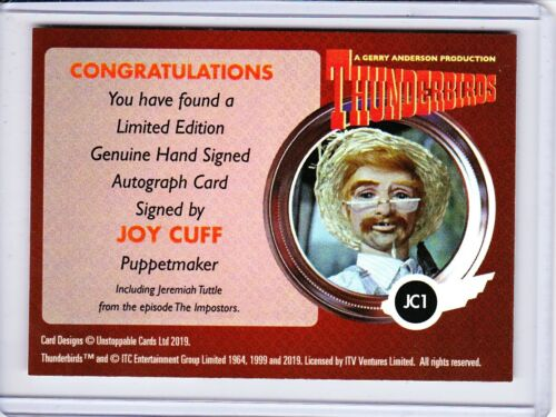 Unstoppable Cards Thunderbirds Series 2 Autograph Trading Card Selection