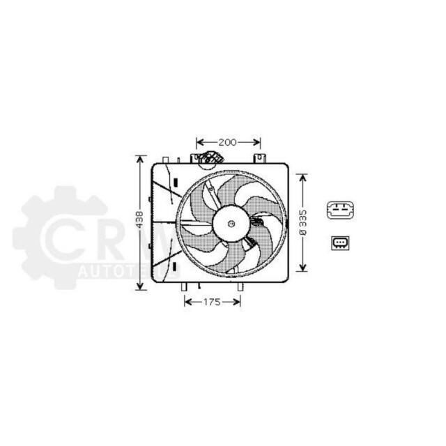 Ventilador Refrigeración Del Motor Citroën C2 Jm _ C3 i cc: II Hb _ Der. _ RC _
