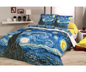 Copripiumino Van Gogh.Completo Copripiumino Van Gogh Federe Notte Stellata 3