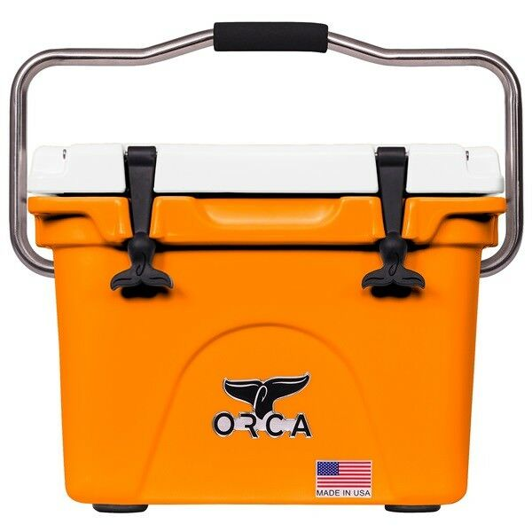 ORCA 20QT Orange AND Weiß COOLER LIFETIME WARRANTY