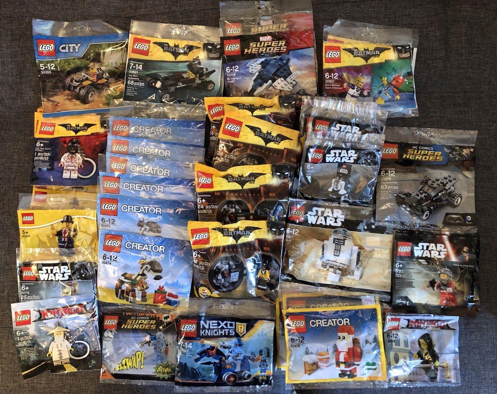 48 48 48 x Lego Polybag Bundle Star Wars Ninjago Christmas Batman Creator Super Heroes 7f2413