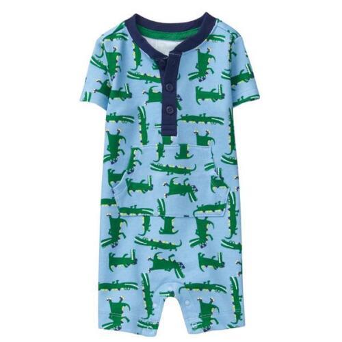 NWT Gymboree Spring Vacation Alligator Baby Boys Blue Romper Sunsuit Jumpsuit