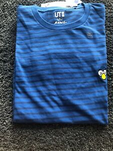 UNIQLO-KAWS-UT-SUMMER-2019-GRAPHIC-T-SHIRT-COMPANION-BFF-STRIPED-DARK-BLUE-XL