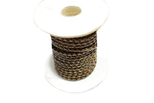 geflochten 2 /& 3 mm verschiedene Farben 10 Meter Naturlederbänder rund glatt
