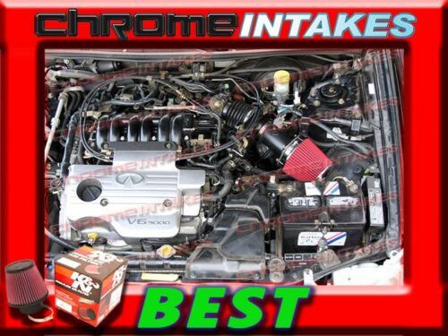 RED AIR INTAKE ADAPTER KIT FOR 03-07 INFINITI FX35//G35//G FX 35//NISSAN 350Z+K/&N