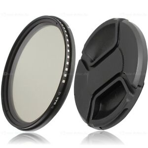 72mm-Fader-ND-Variabler-Graufilter-ND2-ND400-amp-77-mm-Objektivdeckel-lens-cap