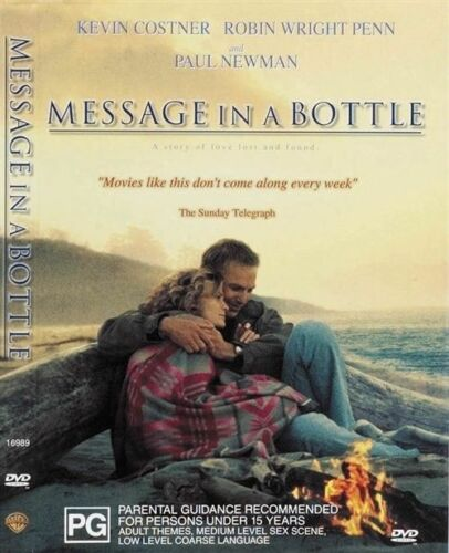 1 of 1 - Message In A Bottle (DVD) Kevin Costner - Region 4 - Very Good Condition