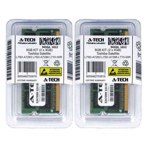 8GB KIT 2 x 4GB Toshiba Satellite L75D-A7283 L75D-A7288 L770-00R Ram Memory