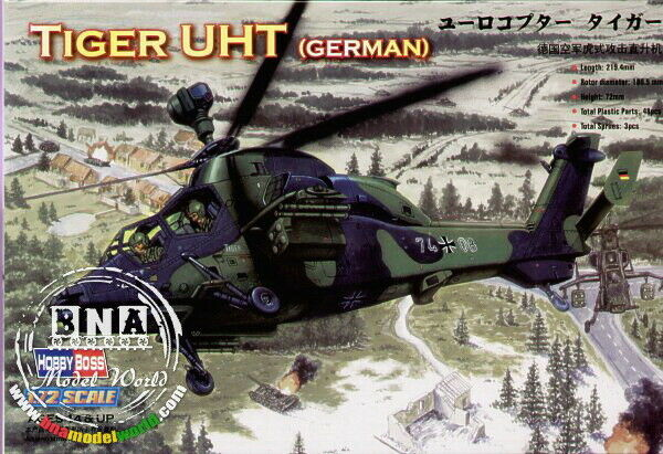 Eurocopter Tiger UHT Attack Support Helicopter 1//72 Scale Model