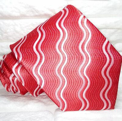 Cravatta Uomo Jacquard Rossa Pura Seta Made In Italy Handmade Morgana Alleviare Il Calore E La Sete.