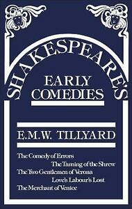 Shakespeares-Early-Comedies-by-Eustace-M-Tillyard-and-Tillyard-2001-UK-Paperback-Reprint-Tillyard