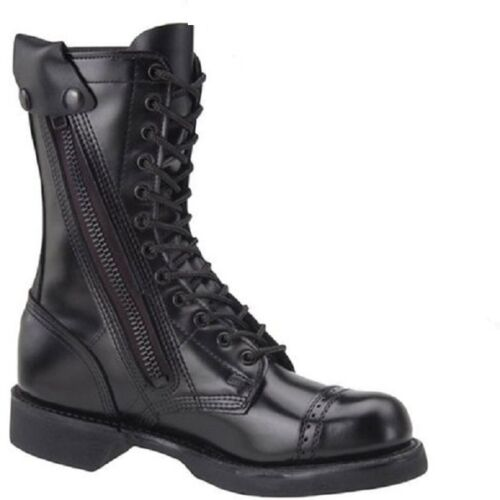 CORCORAN JUMP BOOTS 10 INCH SIDE ZIPPER ALL LEATHER MADE IN USA SIZES 7 TO 14