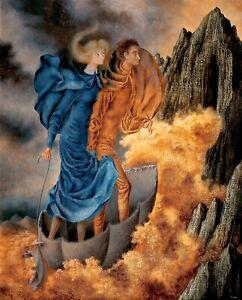 """REMEDIOS VARO Surrealism Art Poster or Canvas Print """"La Huida (The Escape)"""""""