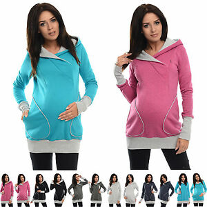 1c85f01b436d1 Image is loading Purpless-Maternity-2in1-Pregnancy-and-Breastfeeding -Hoodie-Sweatshirt-