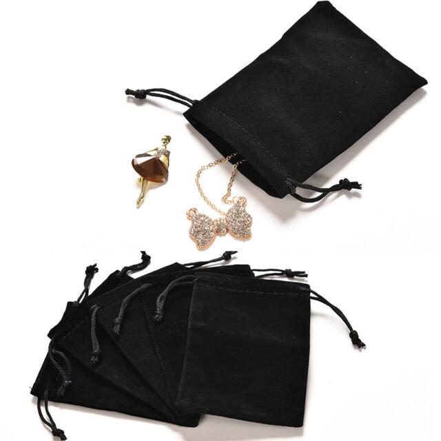 2X Jewelry Bag Black Velvet Necklace Ring Earrings Storage Bag Display Bages FR