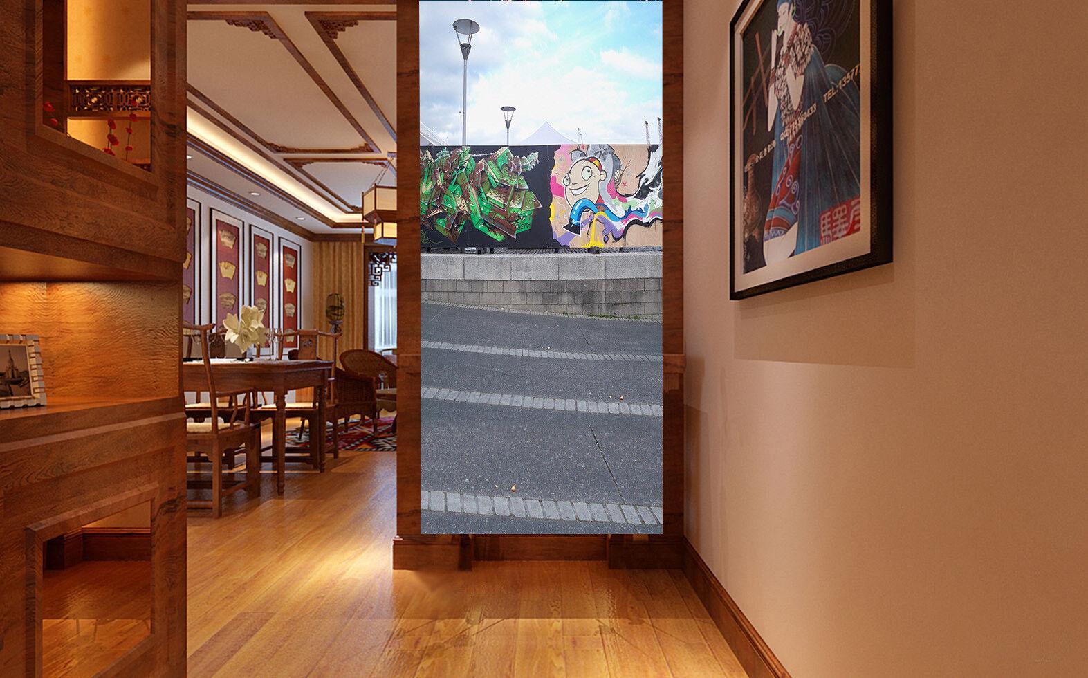 3D Graffiti Street 512 Wall Paper Wall Print Decal Wall Deco Indoor Mural Carly