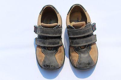 Startrite Insignia Azul/Beige Cuero Y Gamuza Cheeky Zapatos Talla 5.5 F Reino Unido (hijo)