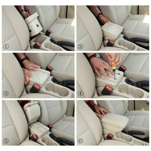 Armrest Box For HONDA CR-Z CRZ Central Center Consoles Lid Arm Rest Cup Holder