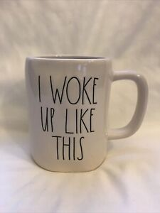Rae-Dunn-by-Magenta-I-WOKE-UP-LIKE-THIS-Coffee-Tea-Mug-Cup-NEW