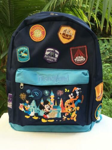 Disneyland Backpack with Mickey /& Friends /& Attraction Patches Embroidered
