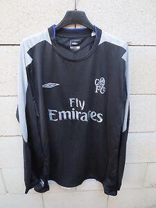 VINTAGE-Maillot-CHELSEA-2004-2005-UMBRO-shirt-football-away-XL-long-sleeve-noir