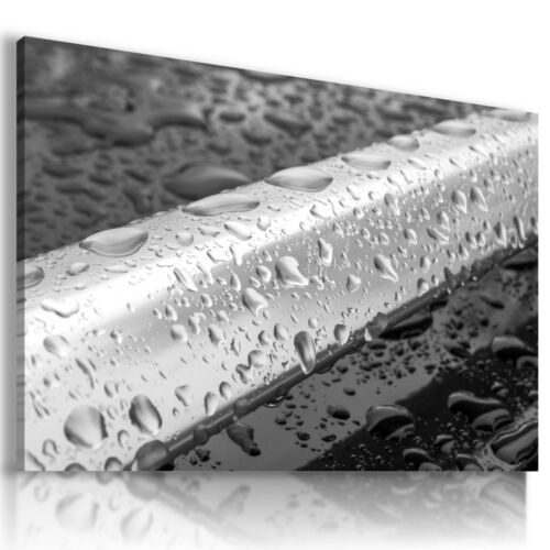 DROPS WATER RAIN NATURE Modern PRINT Canvas Wall Art Picture AB561 MATAGA
