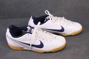 Sb328-Nike-Tiempo-Rio-Scarpe-Sportive-Tg-40-5-ECOPELLE-BIANCO-INDOOR-SCARPE-CALCIO