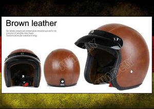 NEW-Light-Brown-OPEN-FACE-SCOOTER-MOTORBIKE-MOTORCYCLE-MOD-RETRO-HELMET-NEW