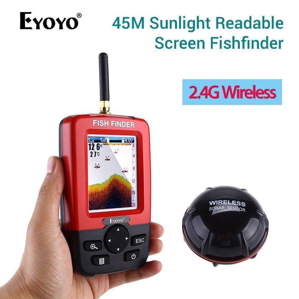 Smart la luz del sol pantalla legible Buscador de Los Pescados Sonar Inalámbrico 45M Para Pesca De Río