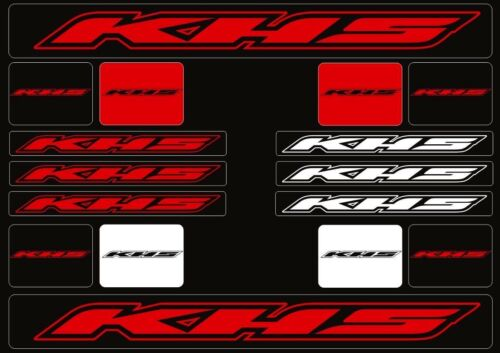 KHS Mountain Bicycle Frame Decal Stickers Graphic Adhesive Set Vinyl Red