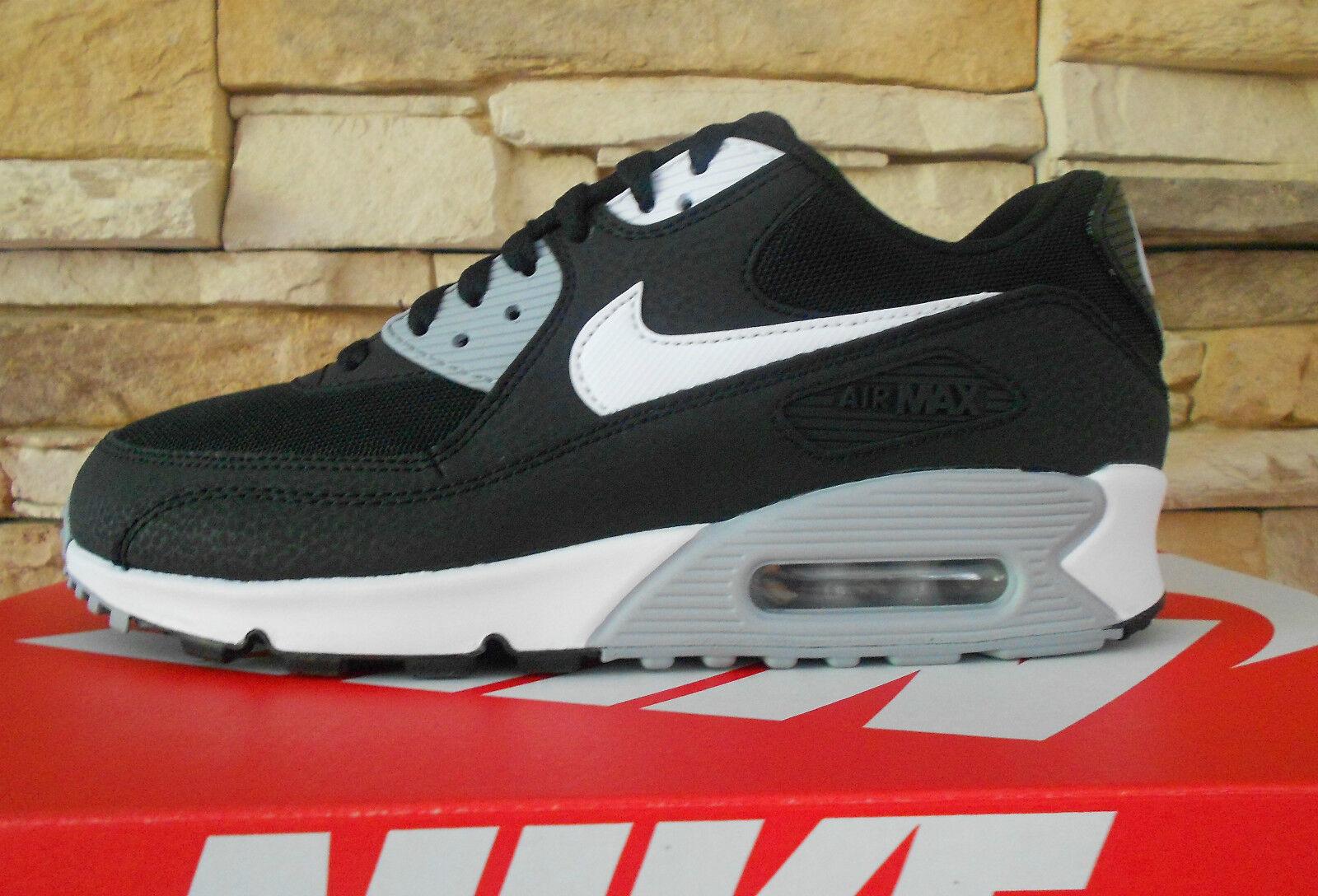Nike Air max 90 Essential Damen Mesh schwarz/weiß/grau Gr. 39 (US 8) 616730012