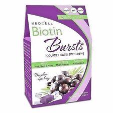 NeoCell BIOTIN BURSTS 10000 mcg - 30 Soft Chews ACAI BERRY - Hair, Skin, Nails