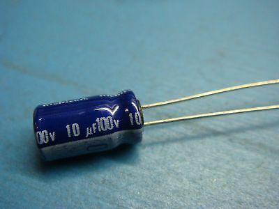 25 UVR1V100MDA 10uF 35V 20/% 85°C RADIAL ALUMINUM ELECTROLYTIC CAPACITOR