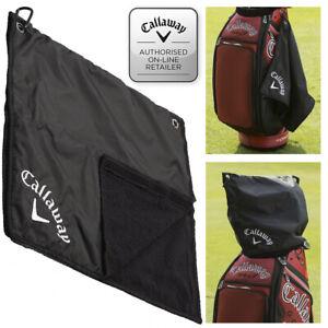 Callaway-Golf-Bag-Rain-Hood-Golf-Towel-17-039-039-x-17-039-039-Black-NEW-2020
