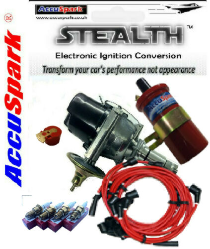 BLACK Leads Reliant Regal Electronic ignition performance kit positive earth