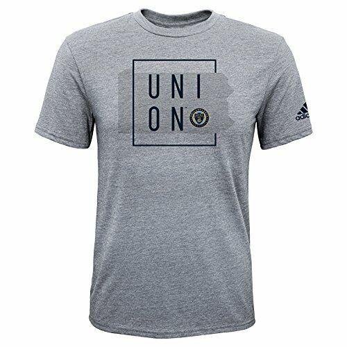 Heather Grey ... MLS Philadelphia Union Boys Triblend Framed Shorts Sleeve Tee