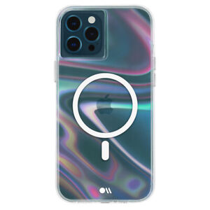 Case-Mate Soap Bubble Magsafe Case Cover for Apple iPhone 12/12 Pro Iridescent