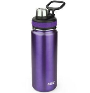 Stainless Steel flask bottle, double wall bottle,  water bottle (PURPLE)
