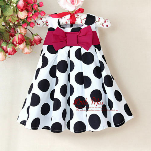 Girl/'s Christmas Polka Dot Party Princess Wedding Costumes Summer Dress