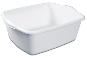 Plastic-Dish-Pan-12Qt-White-Heavy-Duty-Construction-Laundry-Or-Doing-The-Dishes