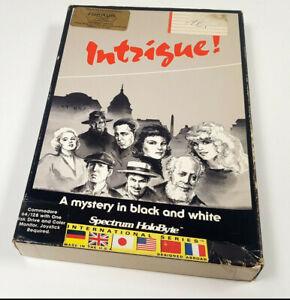 INTRIGUE-by-Spectrum-HoloByte-1986-Commodore-64-Disk-Spiel-C64-BIG-BOX-DISC-CIB
