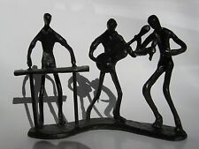 Danya B Metal  Sculpture/ Figurine Musician- Keyboard/Guitar/Singer-Stick People