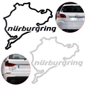 1X-Universel-Carte-Nurburgring-Autocollant-Fenetre-de-voiture-Car-Sticker-Decal