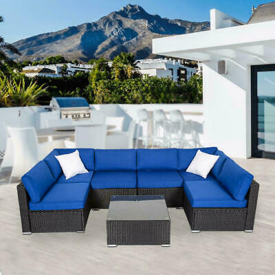 Rattan Wicker Sofa Set Sectional