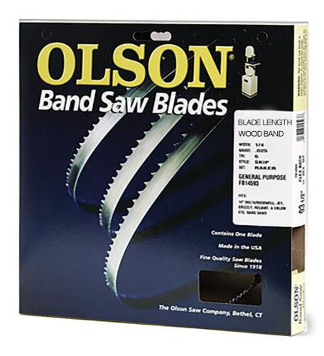 "70/"" Olson Wood Band Band Saw Blade 1//8/"" .018/"" 8 HOOK WB50809DB Made in USA"