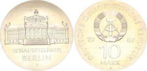 GDR 10 Mark 1987 Schauspielhaus Berlin (S) Fresh Mint Condition (46560)
