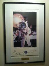 "Apollo 11 Crew Signed 20th Anniversary 25x37"" Print Armstrong Aldrin Collins"