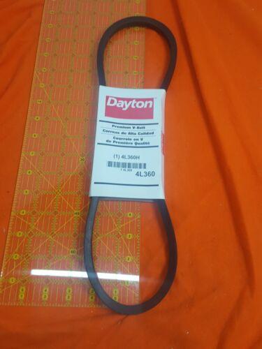 Rubber Body DAYTON Fabric Cover Polyester Cords V-Belt,4L360