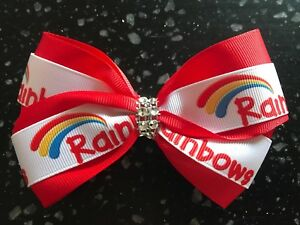 Girl Guiding Bling Boutique Hair Bow Grosgrain Ribbon Guides Uniform